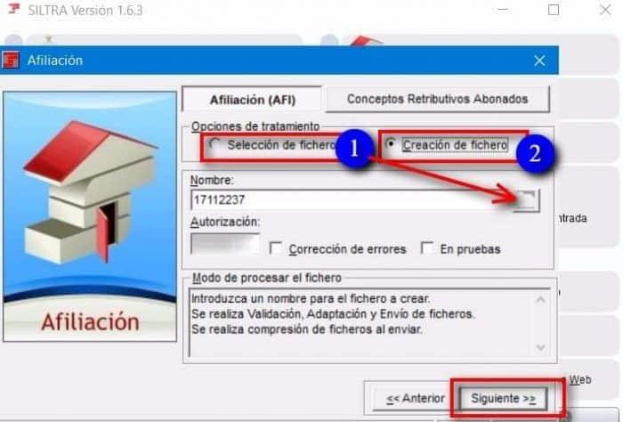 Creación de fichero trabajador siltra importar o crear