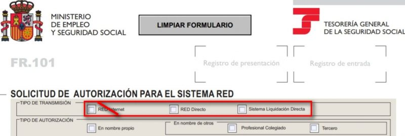 Formulario FR 101