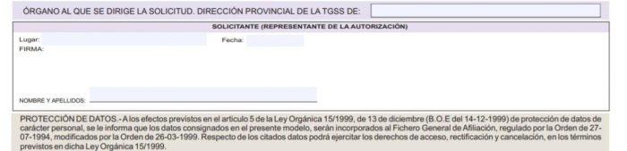 Formulario FR 101 Firma