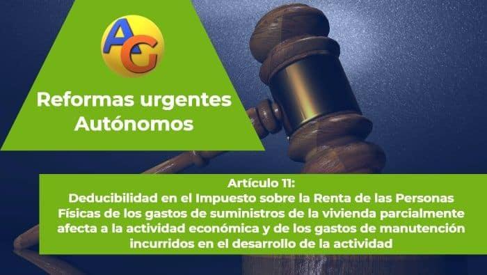Artículo 13 Reformas urgentes autónomos