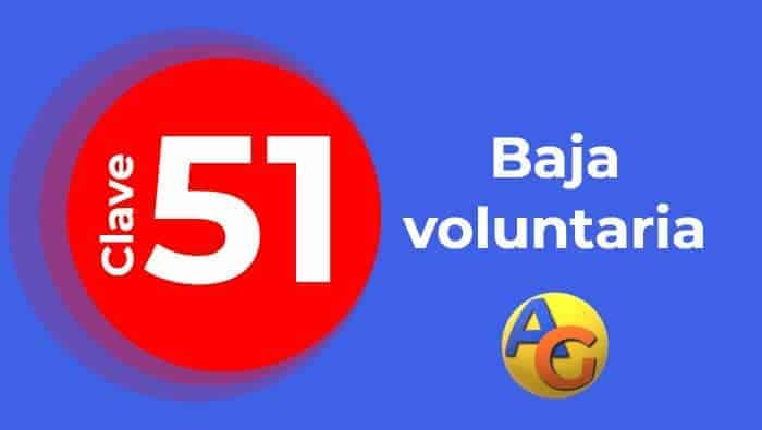Baja voluntaria 51