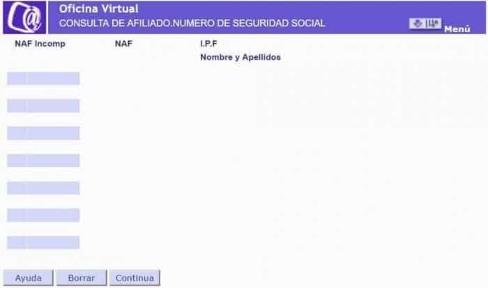 Consulta de afiliado numero de seguridad social