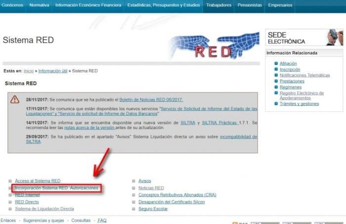 Fr101 paso 1 Incorporación Sistema RED autorizaciones