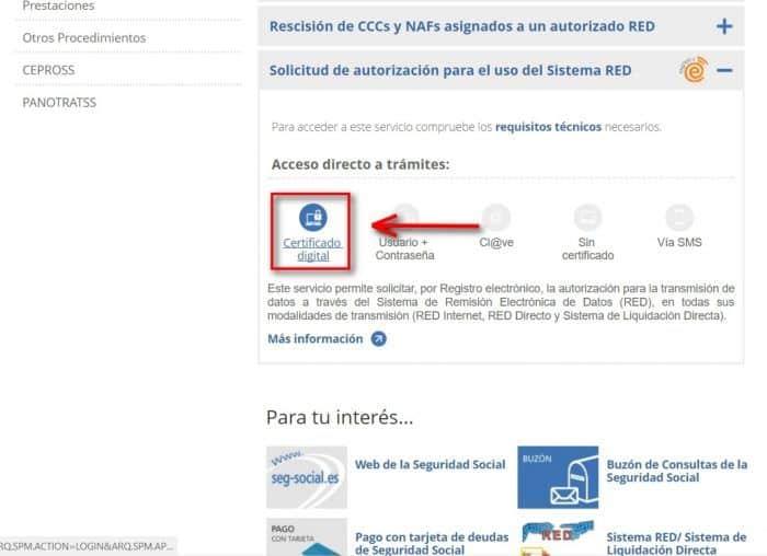 Sede Electrónica Certificado digital