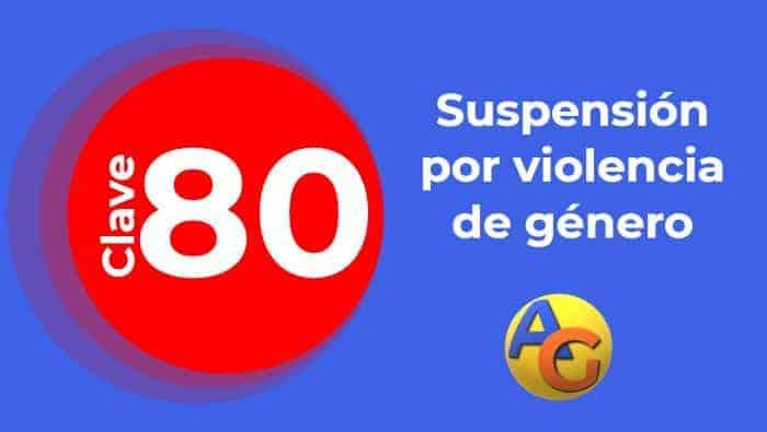Suspensión por violencia de género