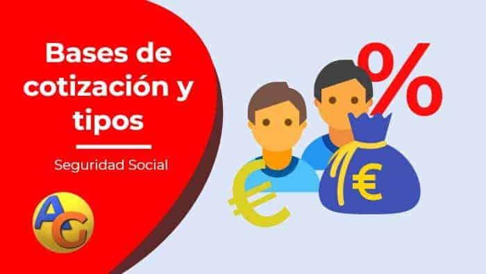 bases de cotización y tipos seguridad social