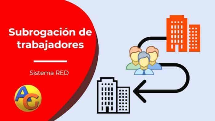¿Cómo realizar una subrogación de trabajadores en Sistema RED?
