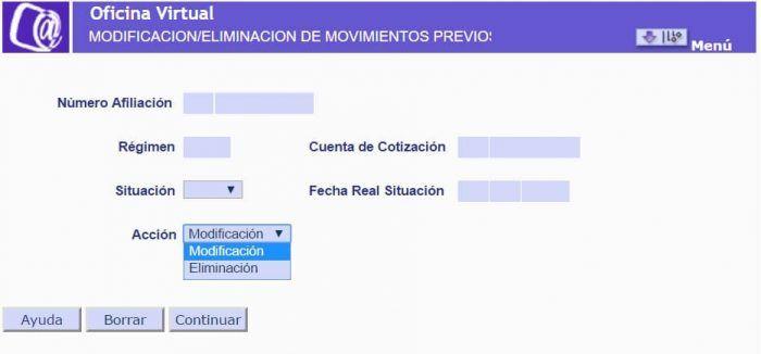 Modificación Eliminación Movimientos Previos