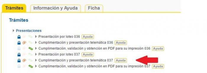 alta censo 037
