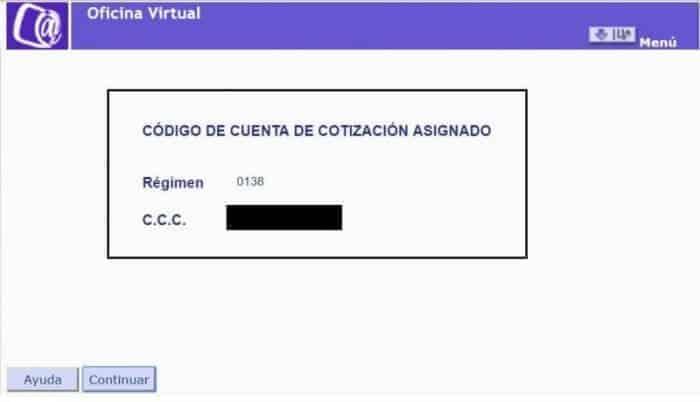 código de cuenta de cotizacion regimen especial empleados del hogar