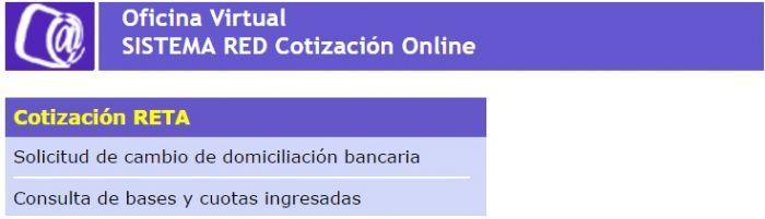 cotización RETA Sistema RED
