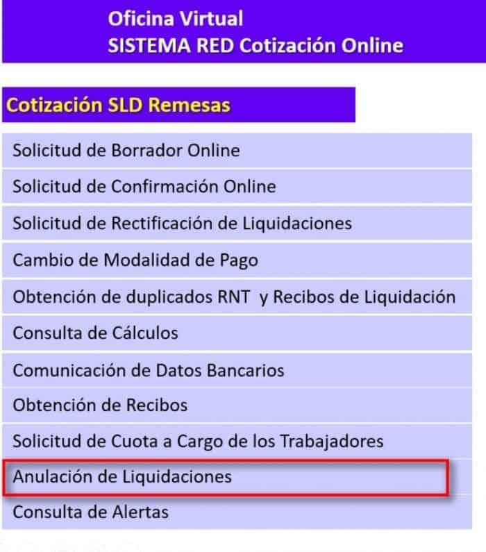 Solicitud anulación de rectificaciones sld