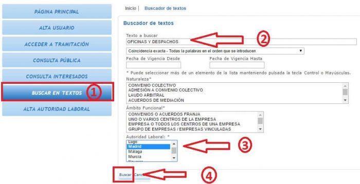 Gu a convenios colectivos ayuda gestor as for Convenio oficinas madrid
