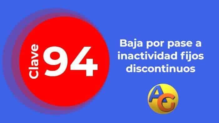 Baja 94 fijos discontinuos seguridad social