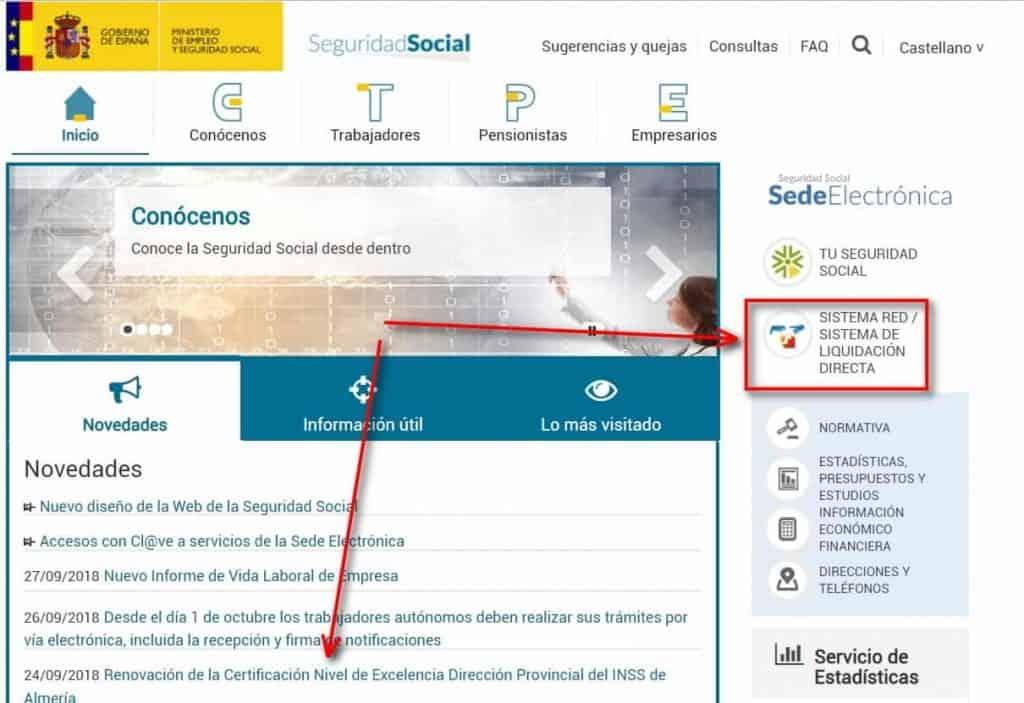 acceso sistema red seguridad social
