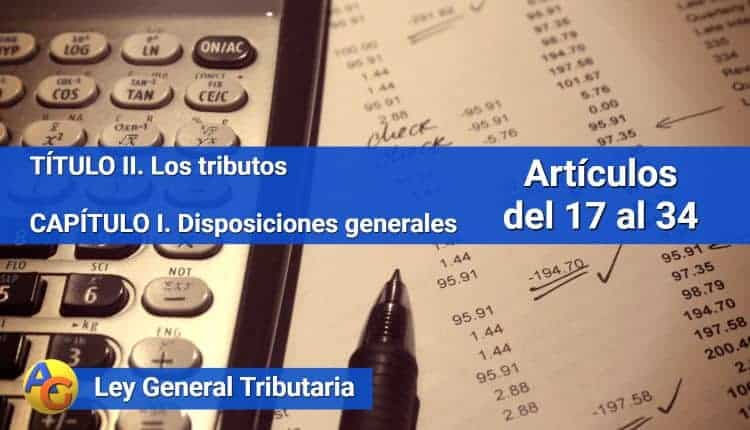 Disposiciones generales Ley General Tributaria