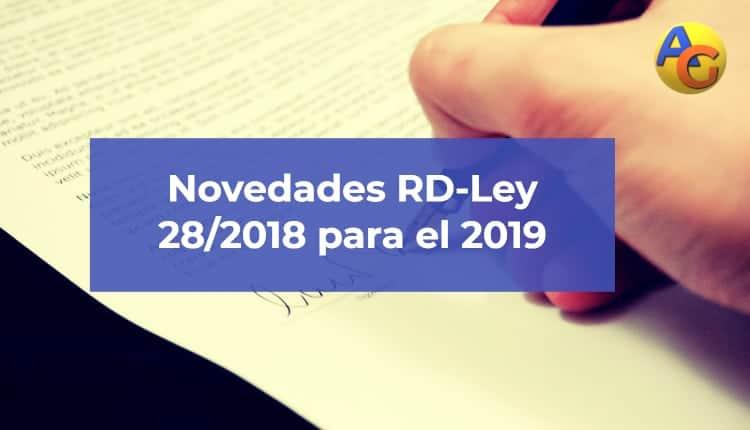 RD Ley 28/2018. Medidades laborales y de empleo.
