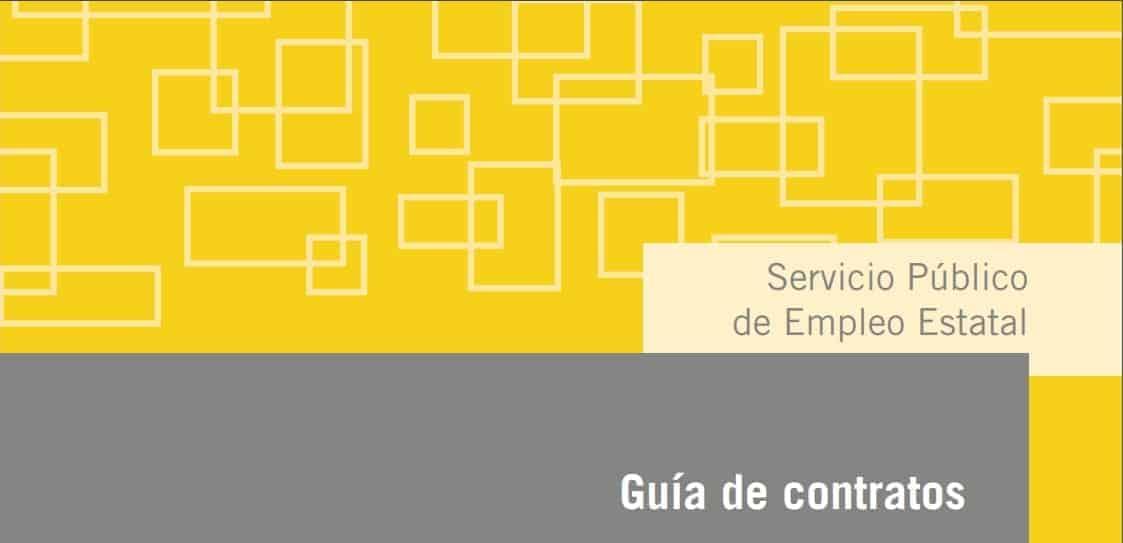 El SEPE publica la guía de contratos del mes de Abril