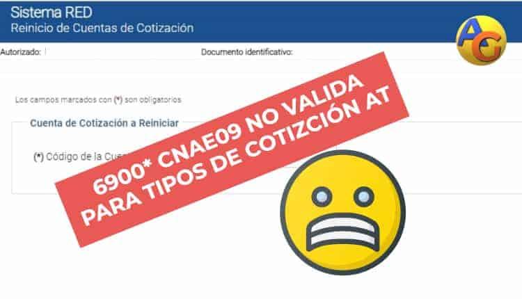error validación CNAE09